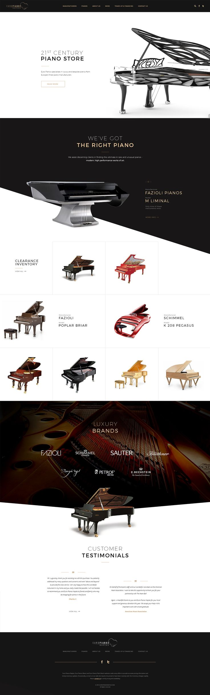 Piano store on Behance