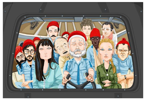 etsy art CUSTOM PORTRAIT COUPLE Become a Team Zissou member Personalized Art drawing illustration Ink pen on Etsy, $90.00