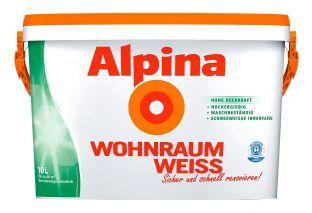 Alpina Innenfarbe »Wohnraumweiss, 2,5L«, weiß, 2.5 l, weiß