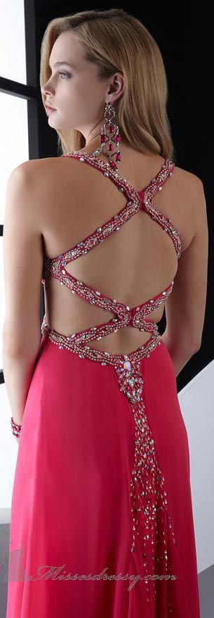 Glittering Beaded Charmeuse Gown by Jasz Couture #sexy #back #dress