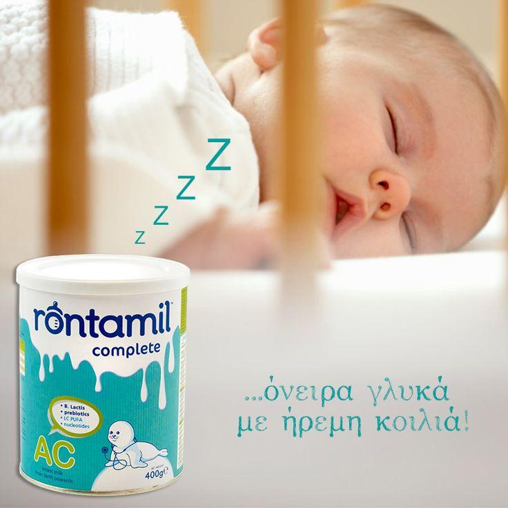 To Rontamil AC είναι ειδικά σχεδιασμένο για την αντιμετώπιση των κολικών στα βρέφη. Η ειδική του σύνθεση είναι εμπλουτισμένη με: - Προ-βιοτικά (B.Lactis), - Πρε-βιοτικά (GOS), - τα 5 νουκλεοτίδια που υπάρχουν στο μητρικό γάλα, καθώς και με - τα απαραίτητα λιπαρά οξέα για την ανάπτυξη του εγκεφάλου και της όρασης.  {Το rontamil είναι ιδανική επιλογή για τα βρέφη όταν ο μητρικός θηλασμός δεν εφαρμόζεται.}