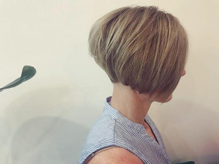 Concave, natural, blonde, style, bob 2018 @dezinehair