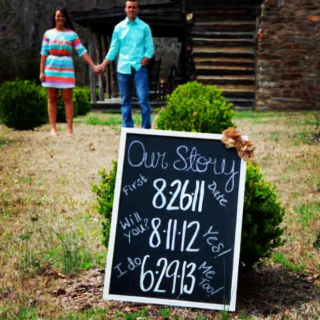 Engagement photo props, DIY, photography by Michael Walker