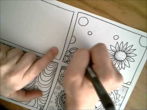 Flower Explosion - a dangerous doodle video drawing tutorial by Miraculous Mosquito.