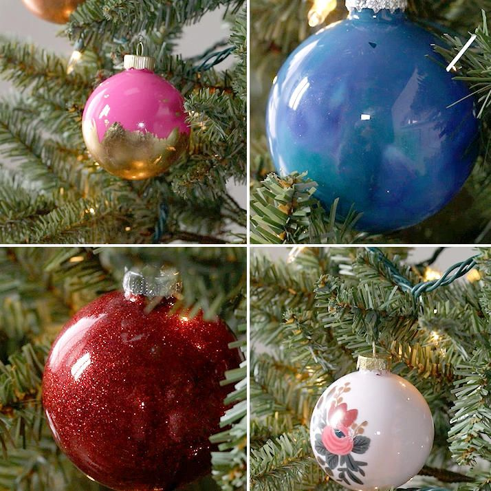 27 Insanely Easy Ways To Dress Up Plain Ornaments Christmas
