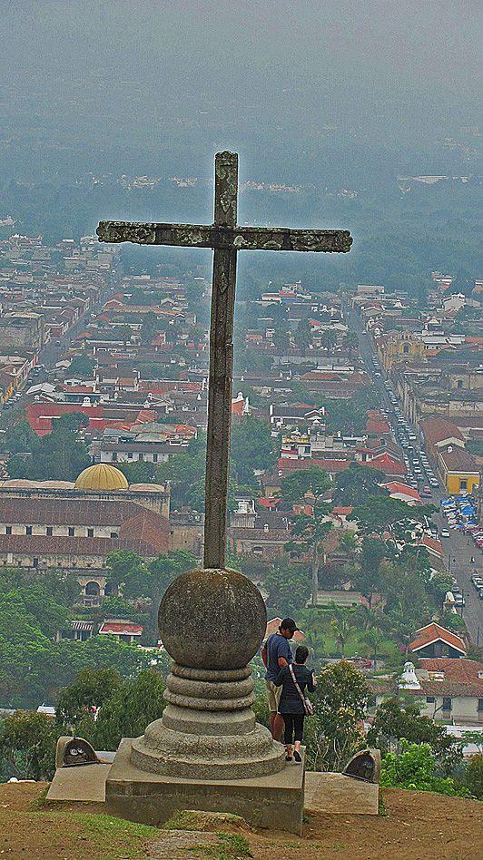 Antigua, Guatemala- Cerro de la Cruz. Quite the hike up, but worth the view!