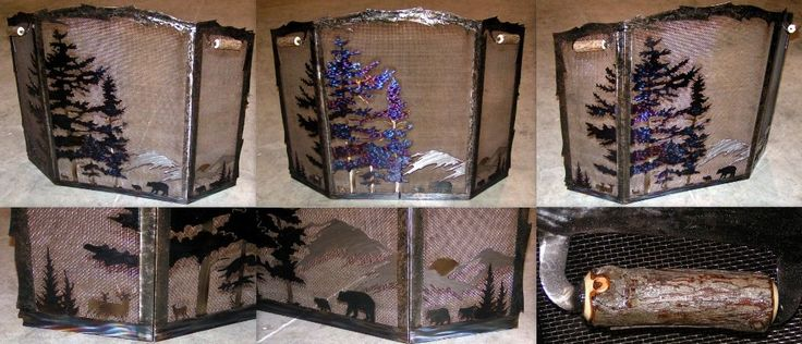Image of: Decorative Fireplace Screens Style
