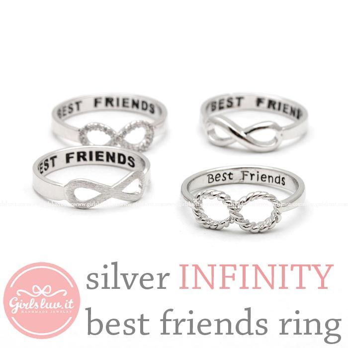 INFINITY best friends ring, in silver collection