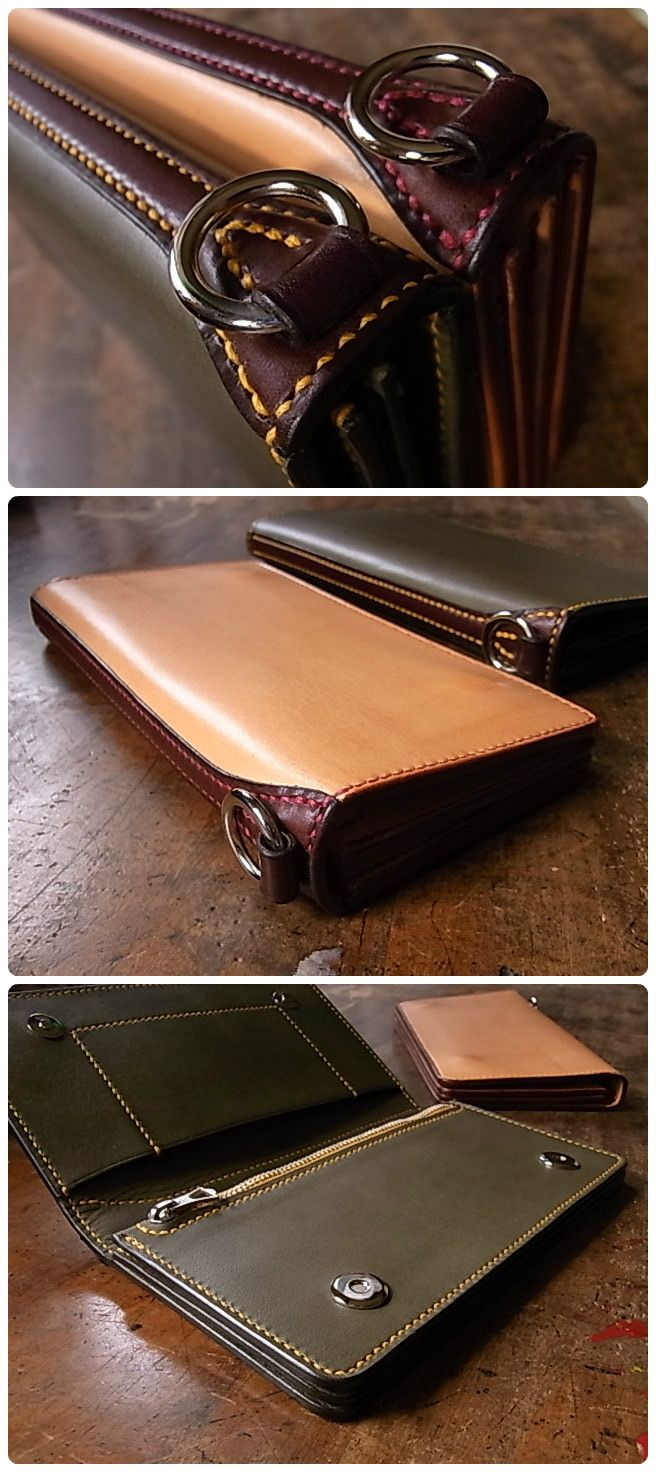leather hand made wallet