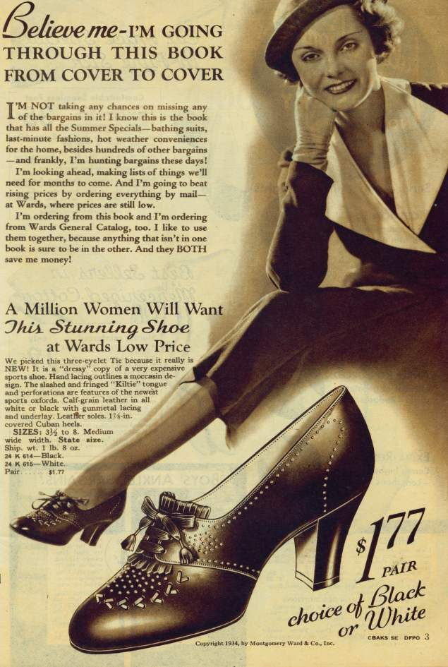Now that's a cheap pair of shoes! (1934 Christmas catalogue)