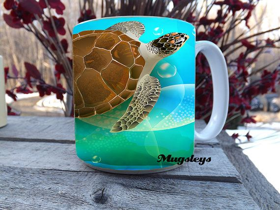 Sea Turtle  20 oz coffee mug, for Patty.- MUST HAVE!