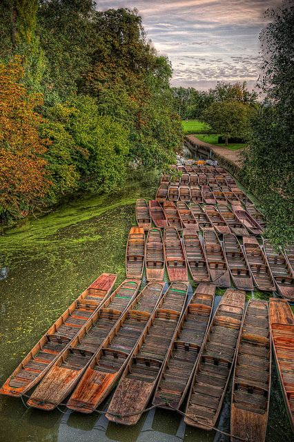 River Cherwell seen from Magdalen Bridge, Oxford by sdhaddow, via Flickr
