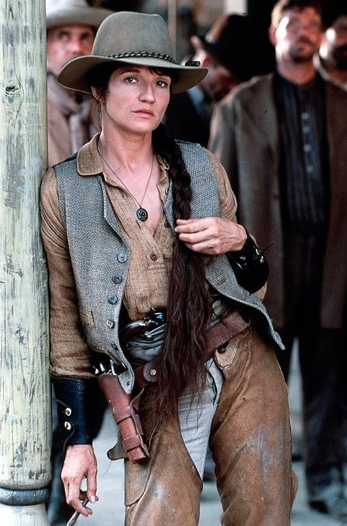 Ellen Barkin as Calamity Jane in Wild Bill
