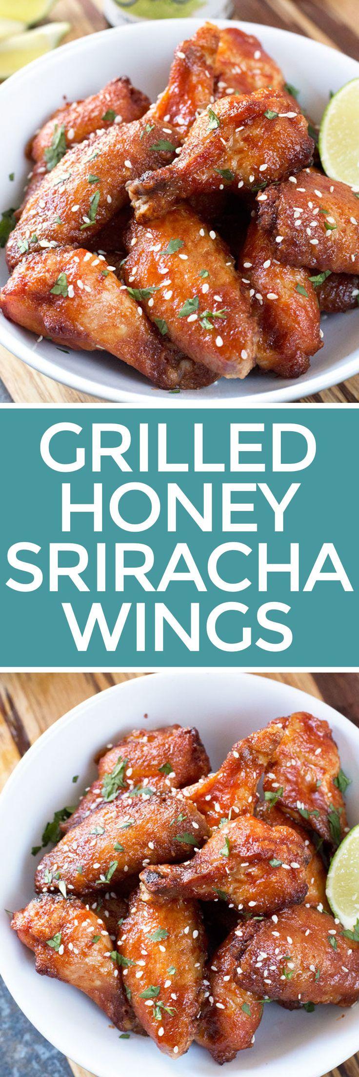 Grilled Honey Sriracha Wings – Cake 'n Knife