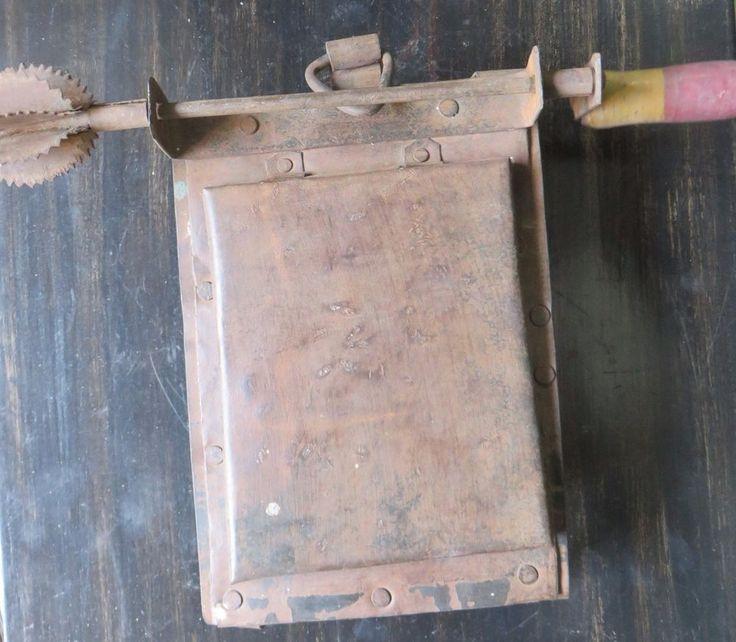 Old  traditional Antique Iron Combo Kitchenware Slicer GRATER SHREDDER SCRAPER