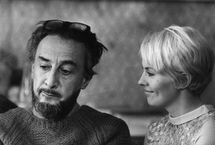 Jean Seberg and Romain Gary on the set of Les oiseaux vont mourir au Pérou directed by Romain Gary, 1968. Photo by Raymond Depardon