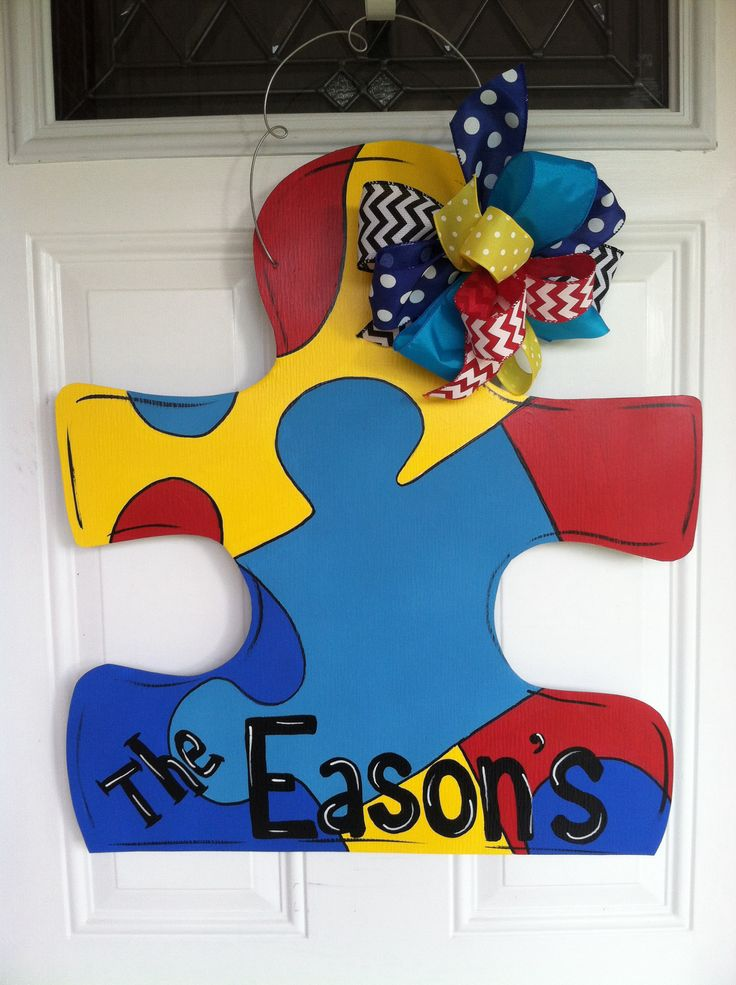 Autism door hanger by LilyPad Designs