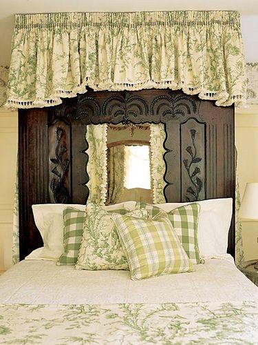 green checks and toile bedroom greenbedroom decorbedroom