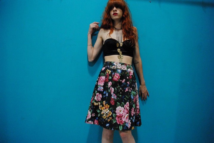 High Waisted Cotton Floral Skirt. €30.00, via Etsy.