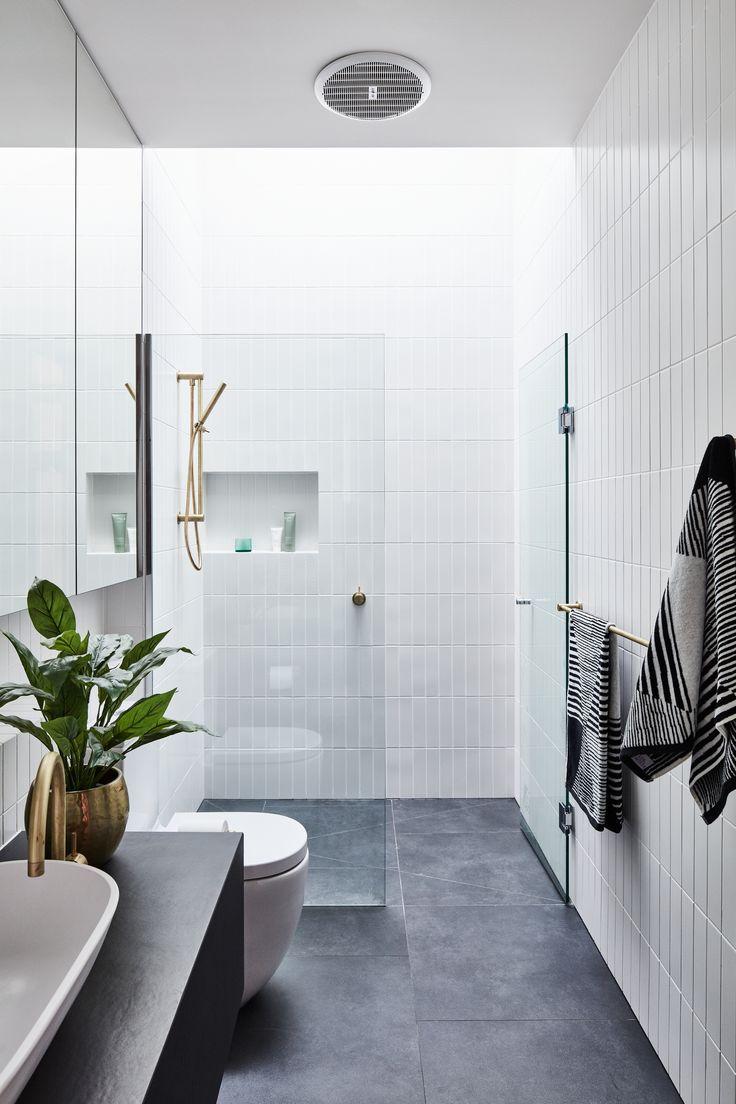 A Striking Courtyard Awaits Behind These Bluestone Walls Bathroom Tile Designs Best Bathroom Tiles Small Bathroom
