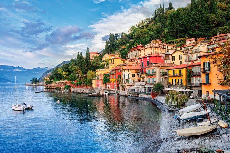 Città di Varenna sul Lago di Como, Italia
