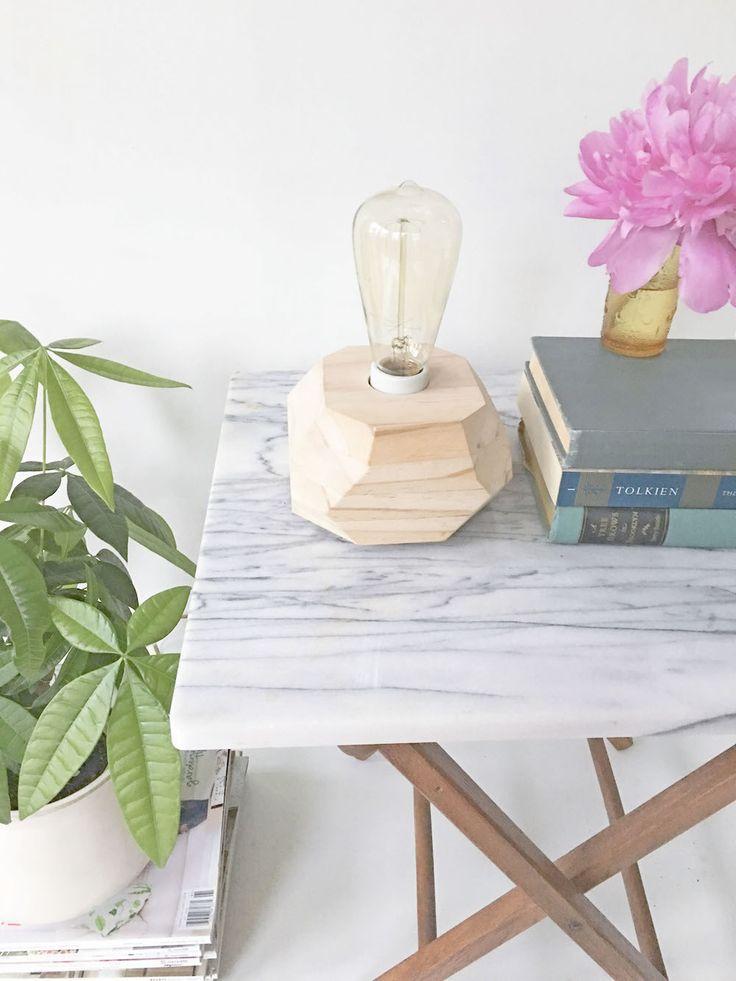 Make It: DIY Wooden Edison Bulb Table Lamp » Curbly | DIY Design & Decor