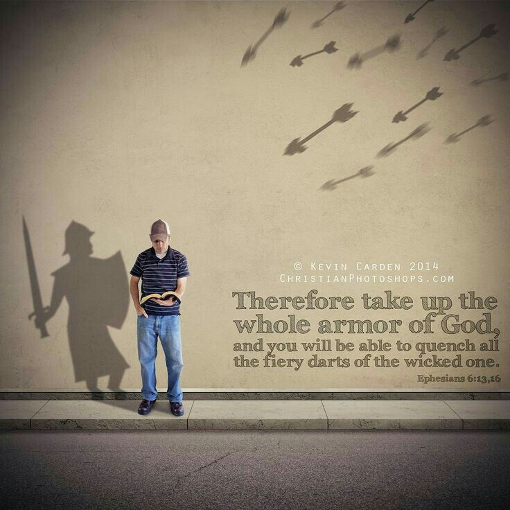 I take up the WHOLE Armor of God and I quench ALL the fiery darts of the wicked one!