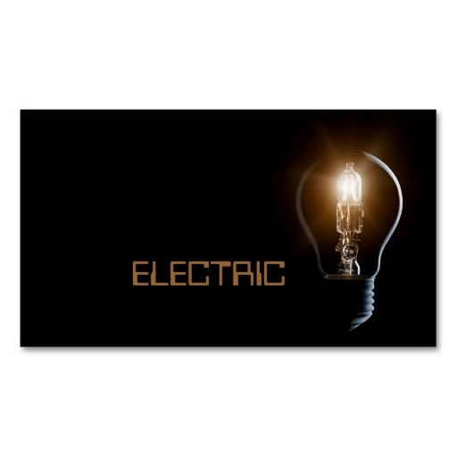 31 best business cards for electricians  electrical services images on pinterest