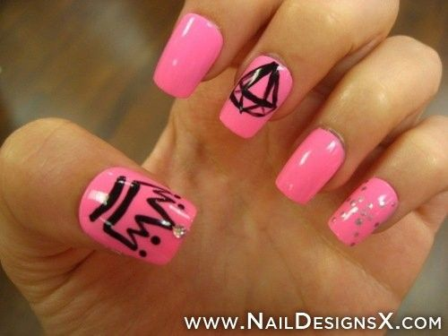 mix pink » Nail Designs & Nail Art