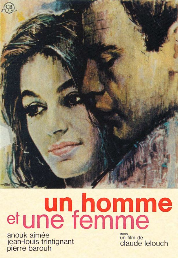 french poster un homme et une femme 1966 directed by claude lelouch anouk aim and jean. Black Bedroom Furniture Sets. Home Design Ideas