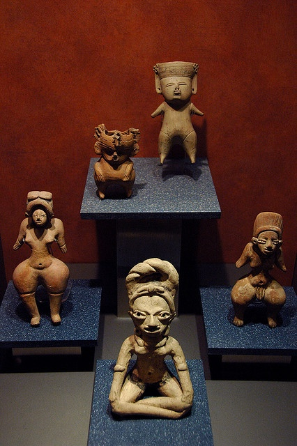 Frida had a small collection of antique figurines like the ones in Mexico City, Mexico, Museum