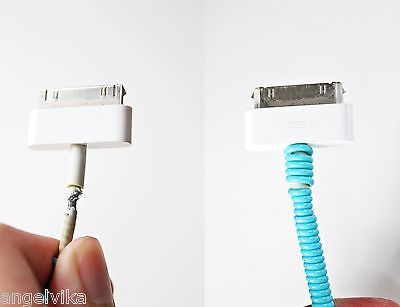 SET OF 3 Spiral Phone Cord Protector - Charger Fray Fix - Mobile Fashion