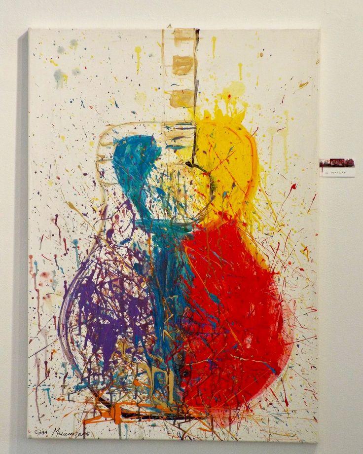 "World Wide Art Show la Caelum Gallery  Pictura : ""Rock'n Roll""  Artist: Gina Maican  #ginamaicanartstyle #art #artist"