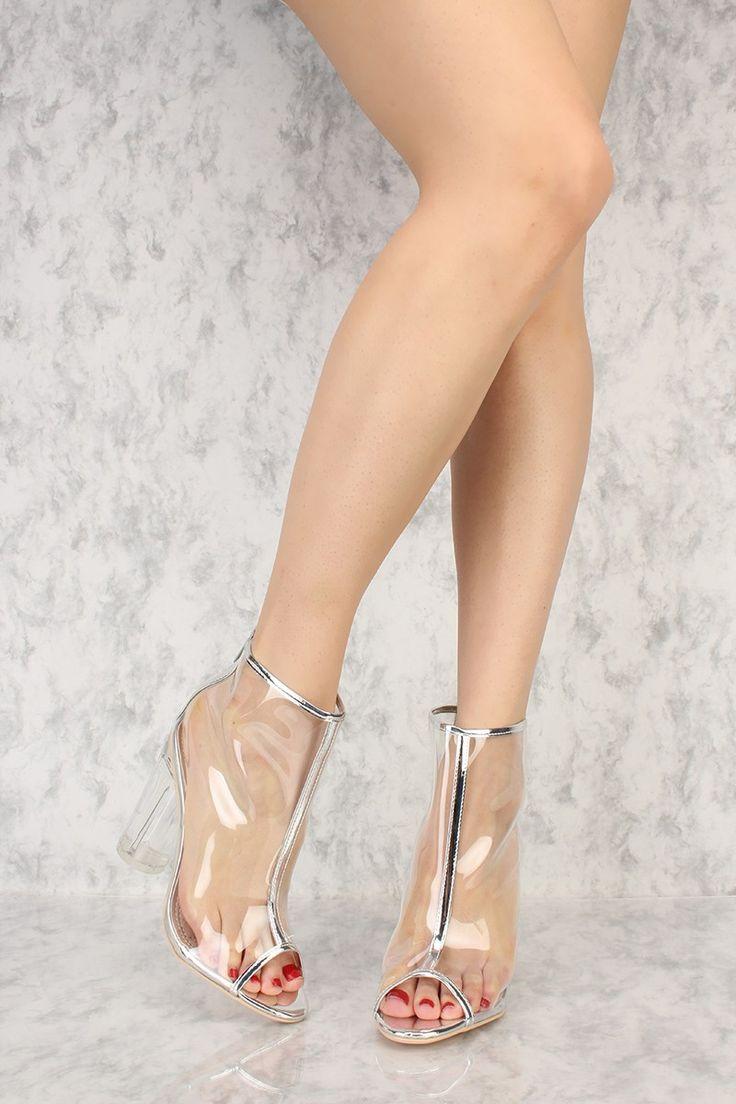 Silver Grey High Heel Tie Up Peep Toe Shoe