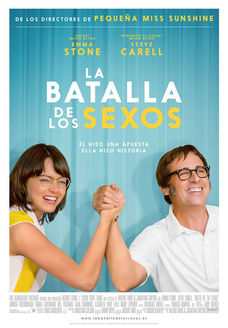 """Batalla de los sexos : basada en una historia real : de los directores de """"Pequeña Miss Sunshine"""" / Fox Searchlight Pictures ; directed by Valerie Faris & Jonathan Dayton"""