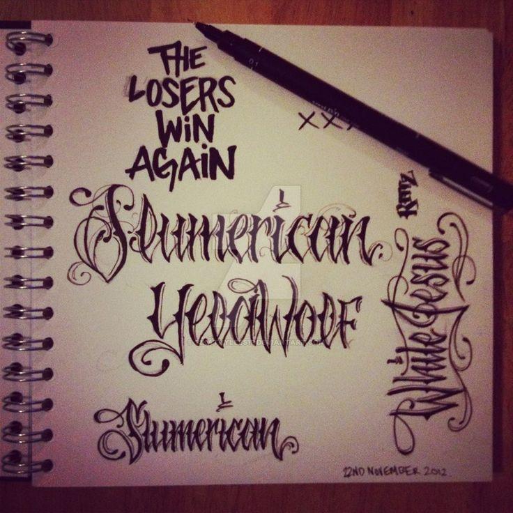 Tattoo font - yelawolf - SLUMERICAN | tattoos | Pinterest ...