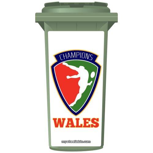 Wales Rugby Champions Shield Wheelie Bin Sticker Panel