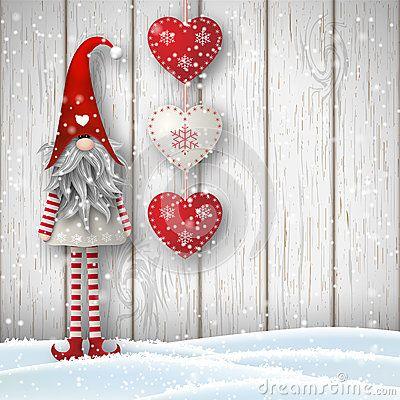 스칸디나비아 크리스마스 전통적인 그놈, Tomte, 일러스트 레이션