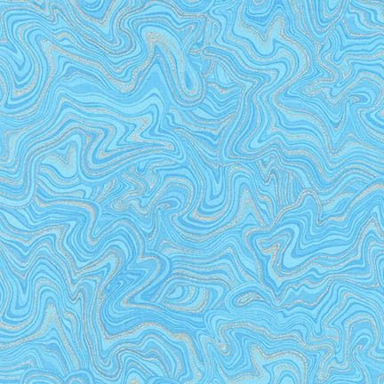 Robert Kaufman - Holiday Flourish 11 APTM-17341-4 BLUE