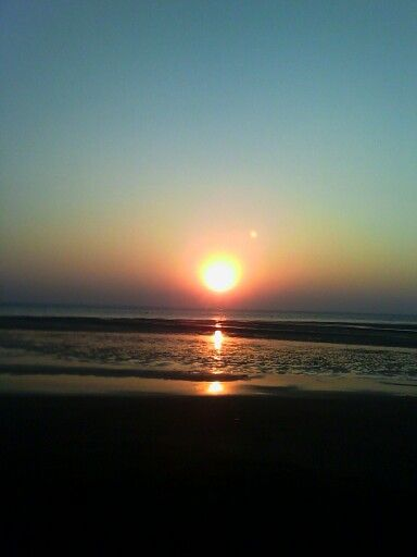 sunset at vasai beach