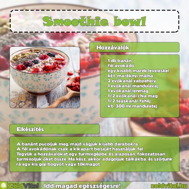Smoothie bowl recept #smoothiebowls