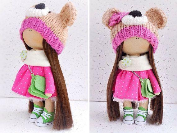 Tilda doll Interior doll Cloth doll Fabric por AnnKirillartPlace