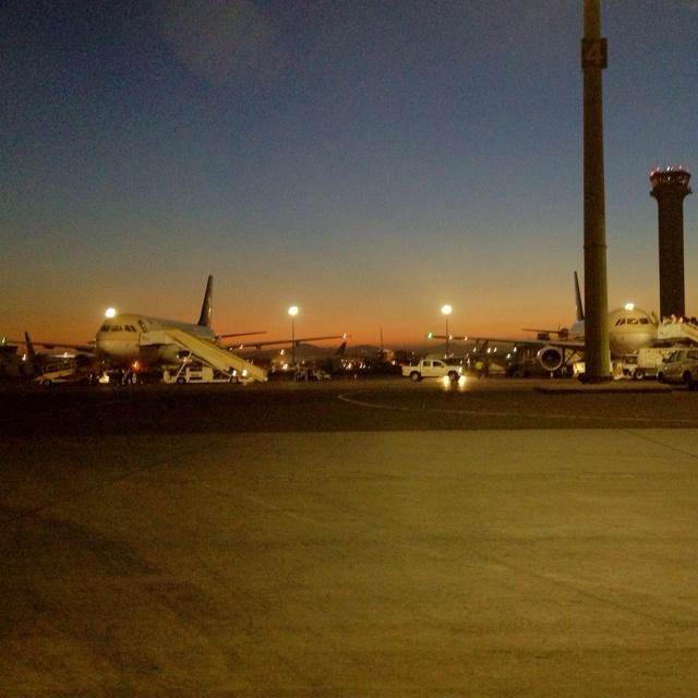 Jeddah airport at dawn