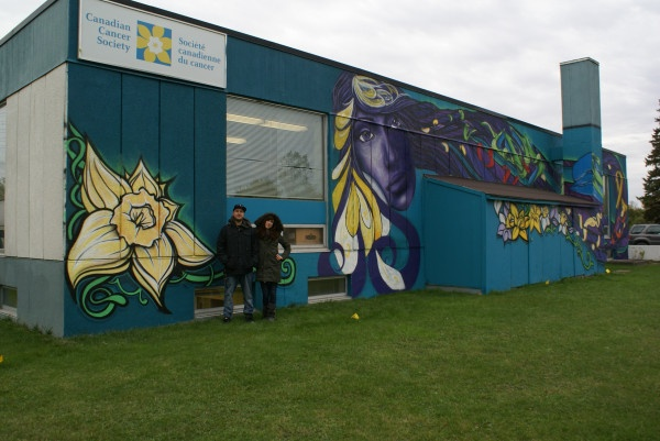 The awesome mural on the Canadian Cancer Society wall in Ottawa. Artists: Mike & Cassandra, Styleoverstatus