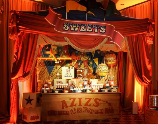Dessert table, circus style.