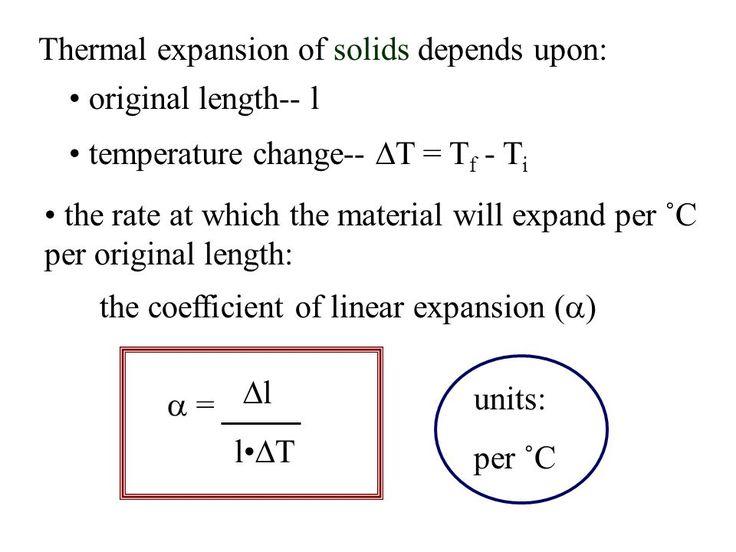 alpha: linear thermal expansion coefficient slide_8.jpg 960×720 pixels