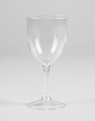 Clear Premium Plastic Wine Glasses - 10 Oz (24 Ct.) by Creative Converting. $53.95. Clear Premium Plastic Wine Glasses are made from heavyweight reusable acrylic manufactured in the USA. These elegant one-piece wine glasses are top rack dishwasher safe. These plastic wine glasses are perfect for all type of events including outdoor festivities and poolside parties. Use our heavyweight clear acrylic wine glasses to create a stylish economical table setting for ...