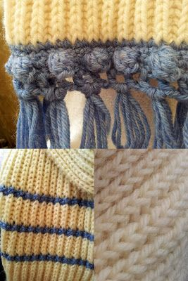 Fabulous detail on this Fishermens Rib Scarf - Free Pattern from Fitzbirch Crafts