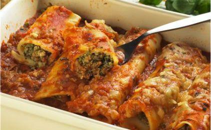 Κανελόνια με κοτόπουλο και μπρόκολο