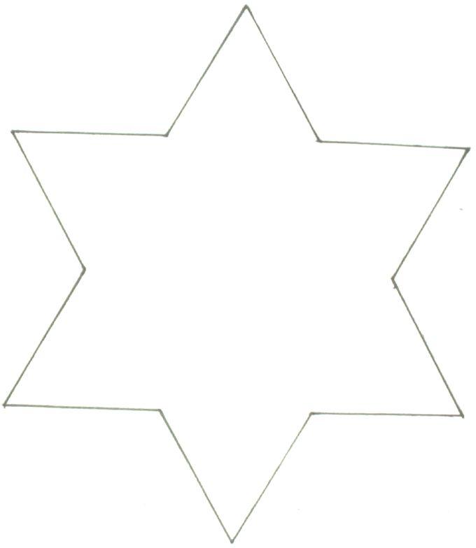 Stern 6 Ecken 01 | Vorlagen, Ausmalbilder, Malvorlagen